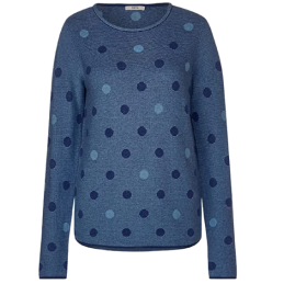 STRUCTERED DOT PULLOVER