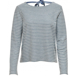 LELLY STRIPE L/S BOW TOP